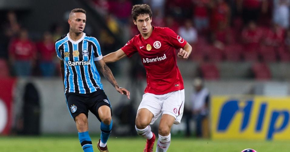 Rodrigo Dourado, durante partida entre Internacional e Grêmio