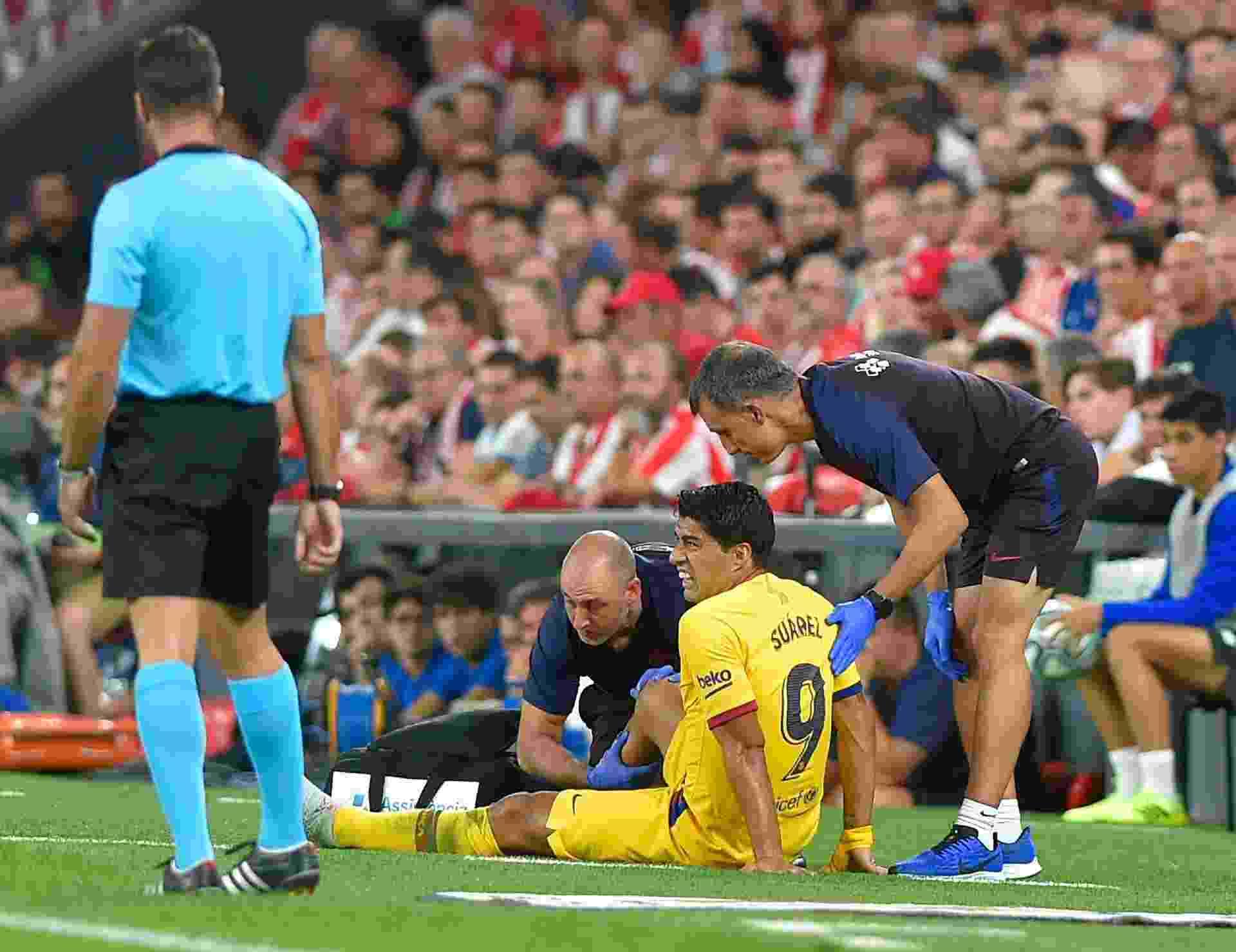 Luis Suárez sai lesionado da partida entre Athletic Bilbao x Barcelona - undefined