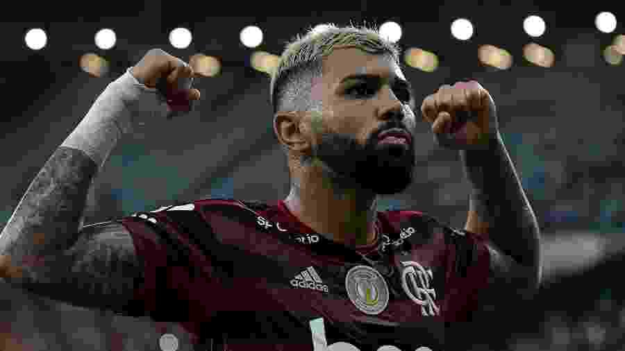Gabigol comemora gol do Flamengo sobre o Bahia pelo Brasileirão 2019  - THIAGO RIBEIRO/AGIF/ESTADÃO CONTEÚDO