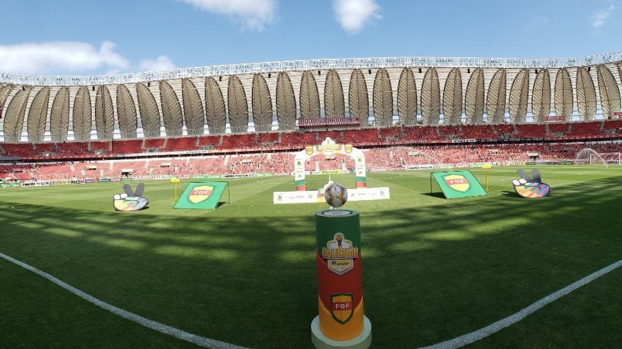 Gre-Nal seria no Beira-Rio, mas prefeitura de Porto Alegre vetou e o jogo será em Caxias do Sul - Divulgação