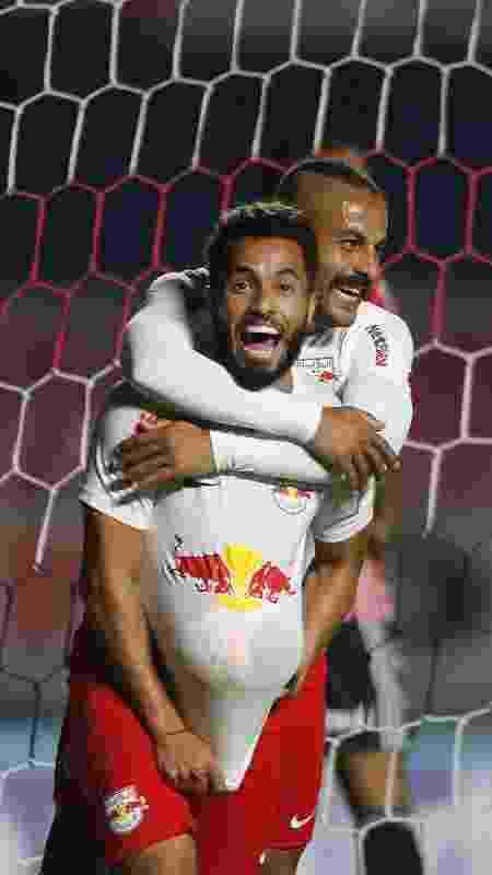 Jogadores do Red Bull Bragantino comemoram gol contra o São Paulo - Divulgação/Federação Paulista de Futebol - Divulgação/Federação Paulista de Futebol