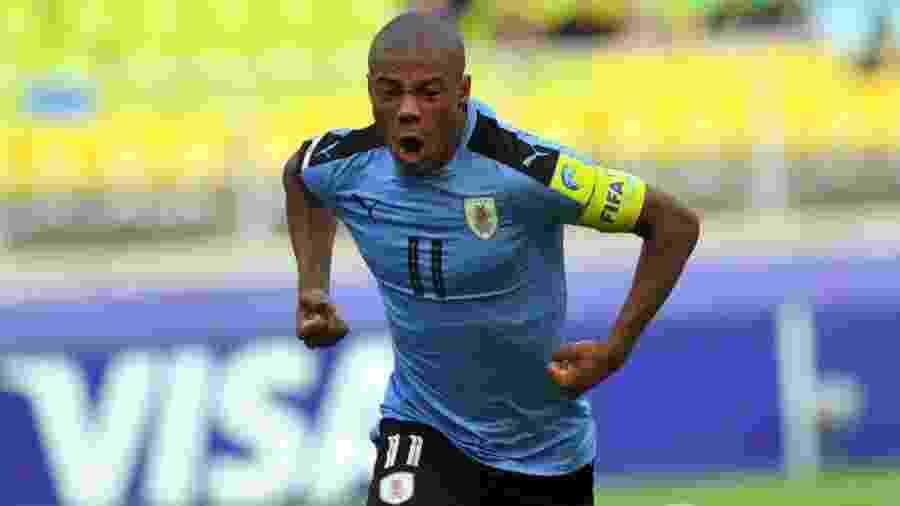 Nicolás de la Cruz brilhou pela base do Uruguai e agora chegou à seleção principal - Reprodução