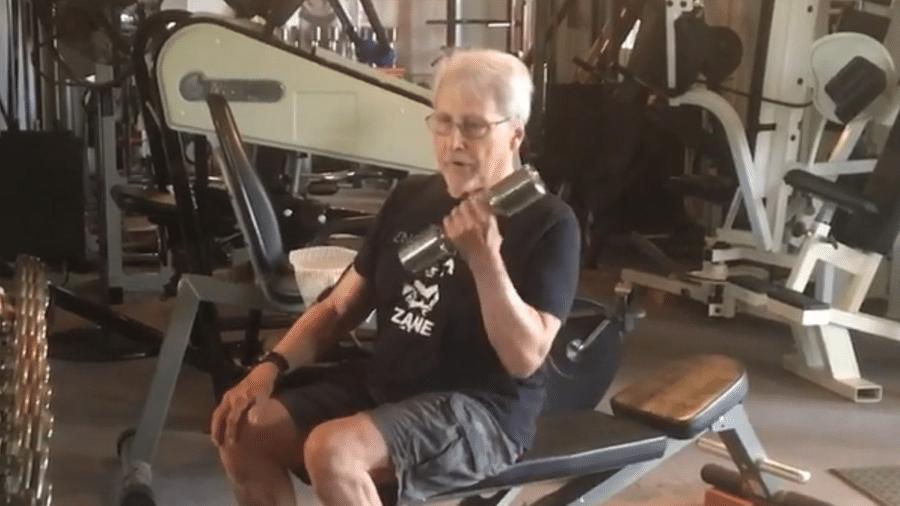 Frank Zane continua se exercitando mesmo aos 79 anos - Reprodução/Instagram