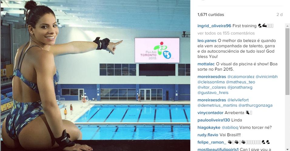Ingrid Oliveira é atleta brasileira e está nos Jogos Panamericanos de Toronto
