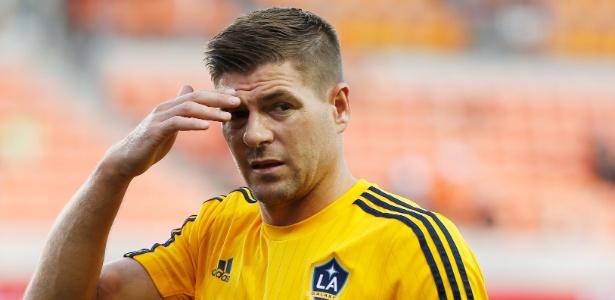 Gerrard com a camisa do Los Angeles Galaxy