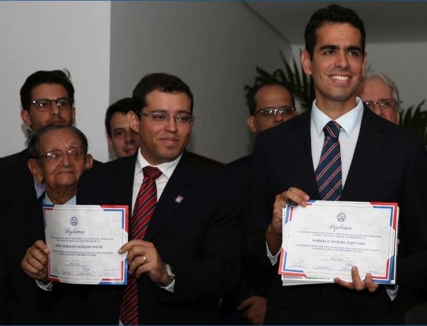 Sant'Ana (D) foi presidente do Bahia e pode assumir cargo no Atlético nos próximos dias