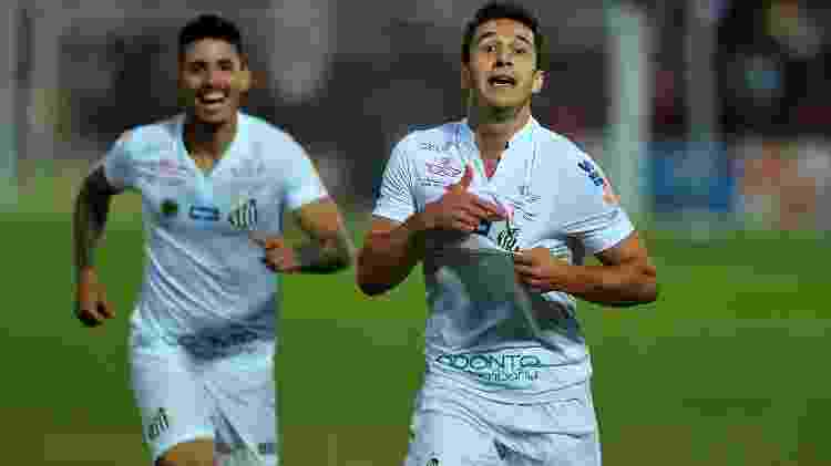 Ronaldo Mendes comemora gol pelo Santos - Ivan Storti/ Santos FC - Ivan Storti/ Santos FC