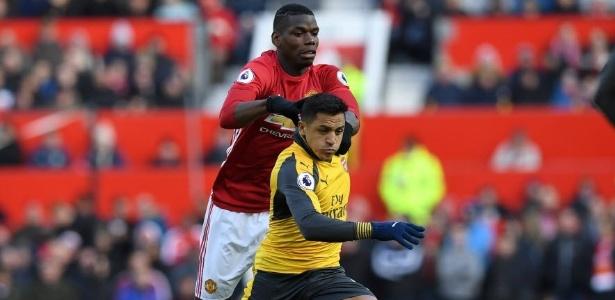 Clássico entre United e Arsenal acabou empatado por 1 a 1 - AFP