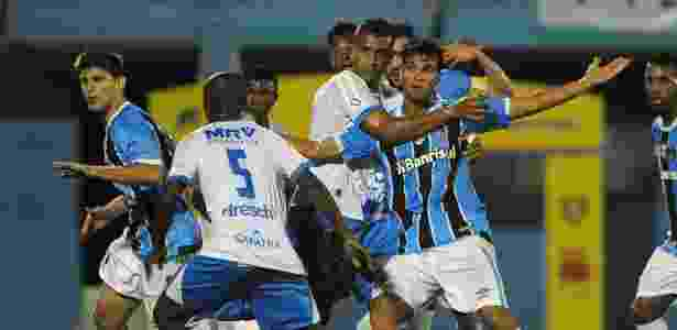 Rafael Thyere, do Grêmio, na partida contra o Novo Hamburgo, válida pelo Campeonato Gaúcho - RICARDO RIMOLI/AGIF/ESTADÃO CONTEÚDO - RICARDO RIMOLI/AGIF/ESTADÃO CONTEÚDO