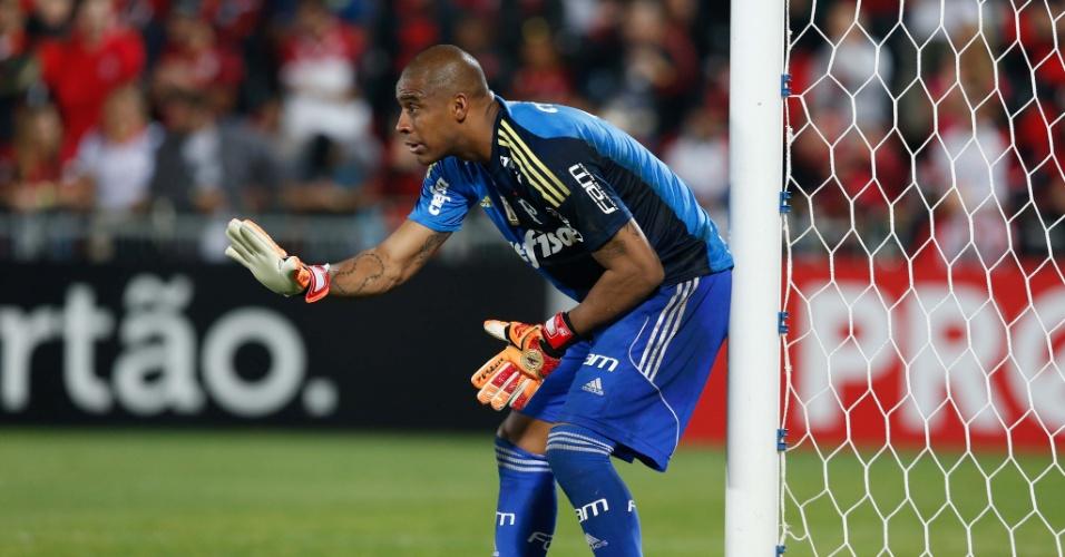 Jailson teve uma chance como titular no Palmeiras no jogo contra o Flamengo