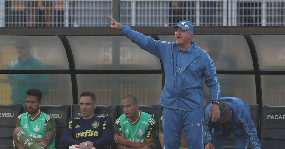 O técnico Luiz Felipe Scolari (Felipão) na partida entre Palmeiras e Ceará 75231dc55aa2e