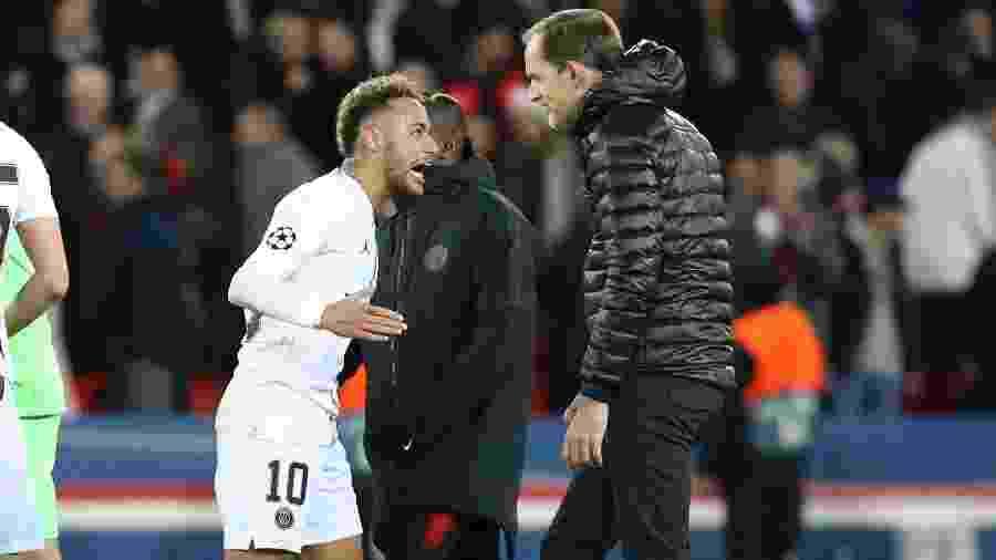 Neymar informou ao técnico Thomas Tuchel que pretende deixar o PSG - Jean Catuffe/Getty Images