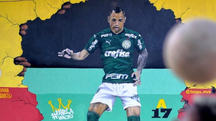 Atacante do Palmeiras foi homenageado após marcar gol da final da Libertadores - Reprodução/Twitter