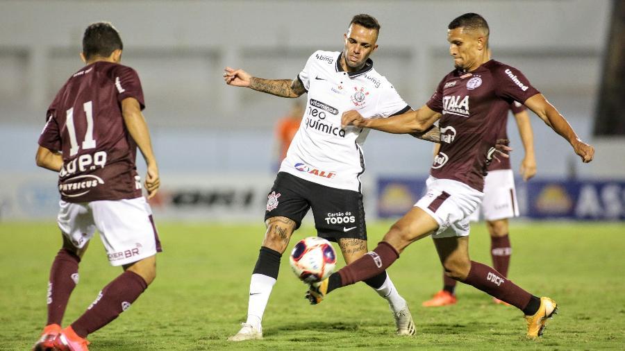 Luan, do Corinthians, durante a partida contra a Ferroviária, pelo Paulistão - Rodrigo Coca / Agência Corinthians