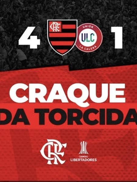 Post do Flamengo para a Libertadores 2021 - Reprodução