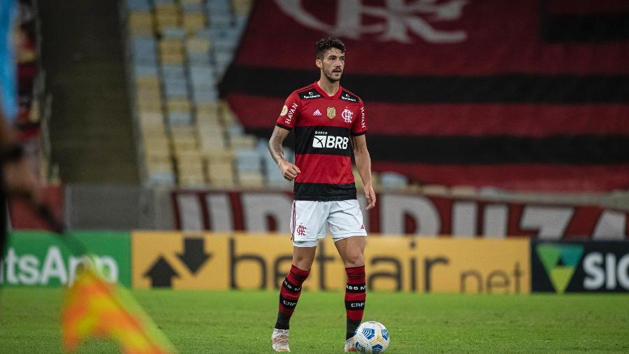 Zagueiro Gustavo Henrique em ação pelo Flamengo - Alexandre Vidal/Flamengo