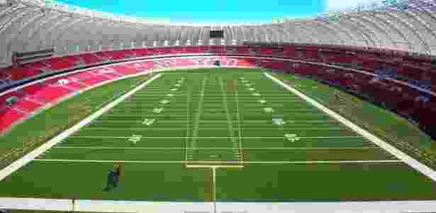 Gigante Bowl  Inter planeja fazer cópia de final da NFL no Beira-Rio ... 822c56c77ea94
