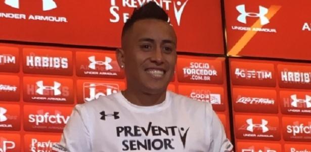 Cueva chega para reforçar o São Paulo no Brasileirão e na Copa do Brasil - Reprodução