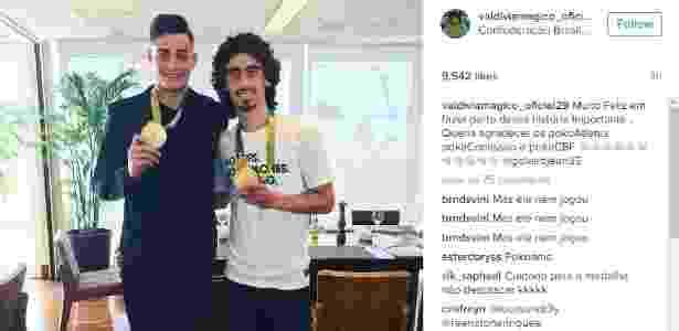 Valdívia publica foto com medalha de ouro olímpica - Reprodução Instagram - Reprodução Instagram