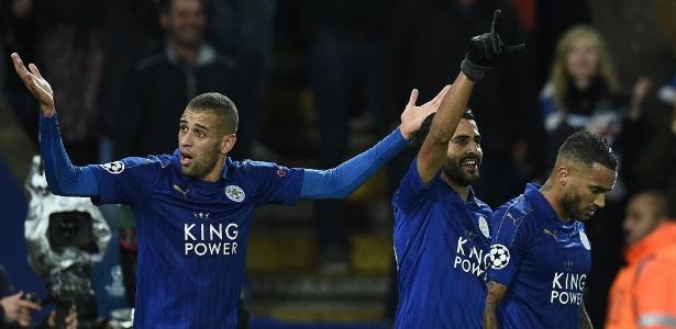 Mahrez e Slimani, ambos do Leicester, estão entre os cinco candidatos - Oli Scarff/AFP