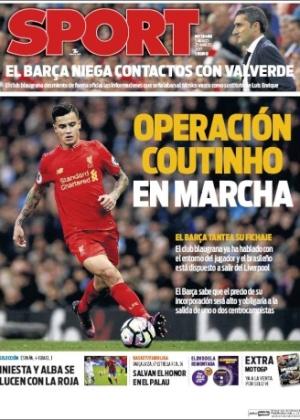 """Jornal """"Sport"""" diz que Barcelona pode se desfazer de jogadores de meio-campo para abrir espaço para brasileiro - Reprodução"""