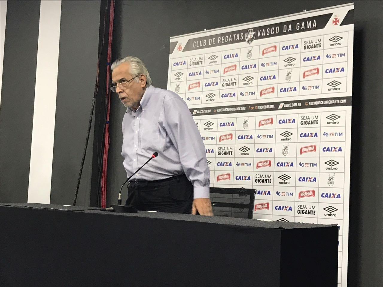 Eurico Miranda, presidente do Vasco, falou após o empate contra o Santos