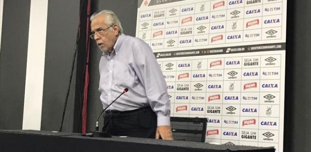 Eurico Miranda, presidente do Vasco, em entrevista coletiva