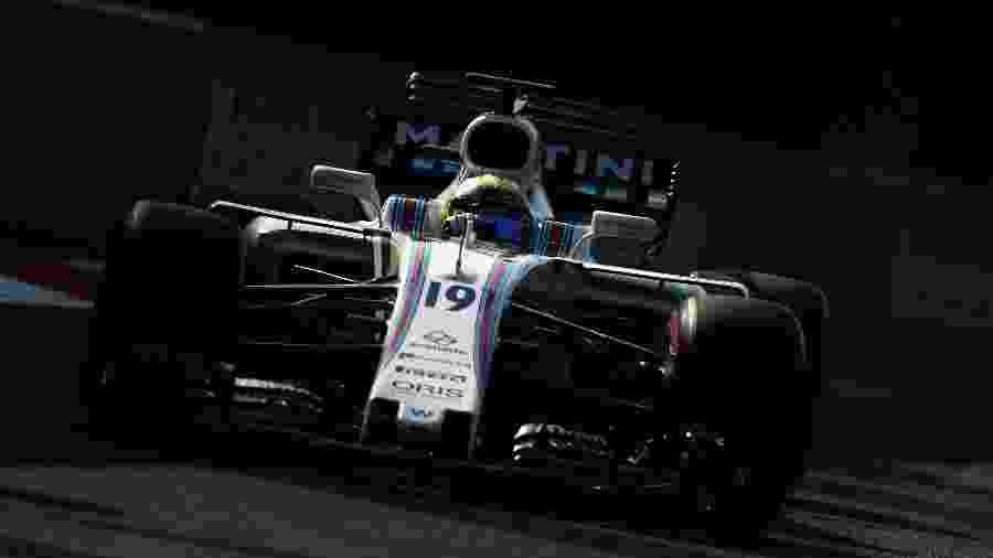 Felipe Massa pilota sua Williams no treino do GP do México - Clive Rose/Getty Images/AFP