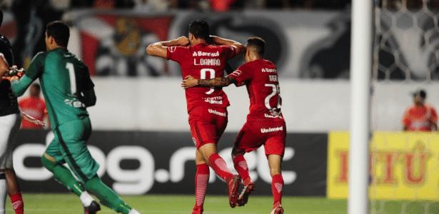 Leandro Damião comemora gol do Internacional contra o Remo pela Copa do Brasil - Ricardo Duarte/Divulgação