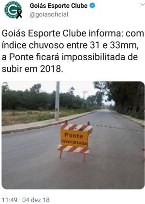 Goiás provoca Ponte Preta no Twitter
