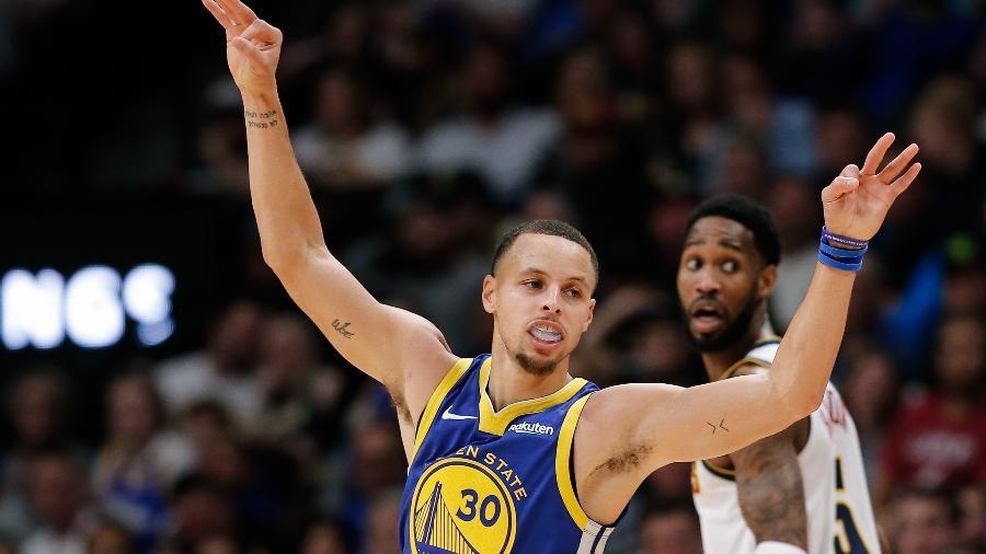 Stephen Curry comanda vitrória dos Warriors sobre Nuggets - Isaiah J. Downing/USA TODAY Sports