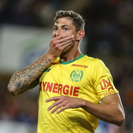 Emiliano Sala, quando ainda era atacante do Nantes - Elyxandro Cegarra/NurPhoto via Getty Images