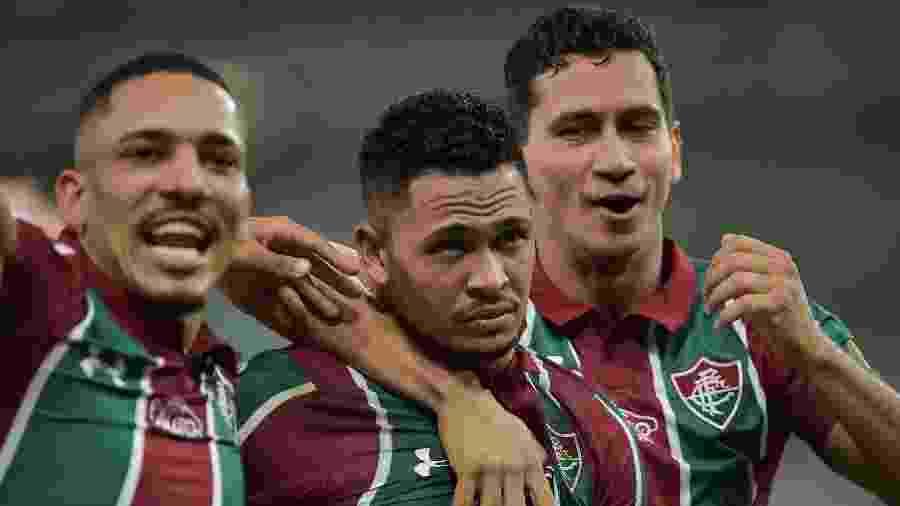 Luciano, Gilberto e Paulo Henrique Ganso estarão em campo contra o Atlético Nacional - Thiago Ribeiro/AGIF