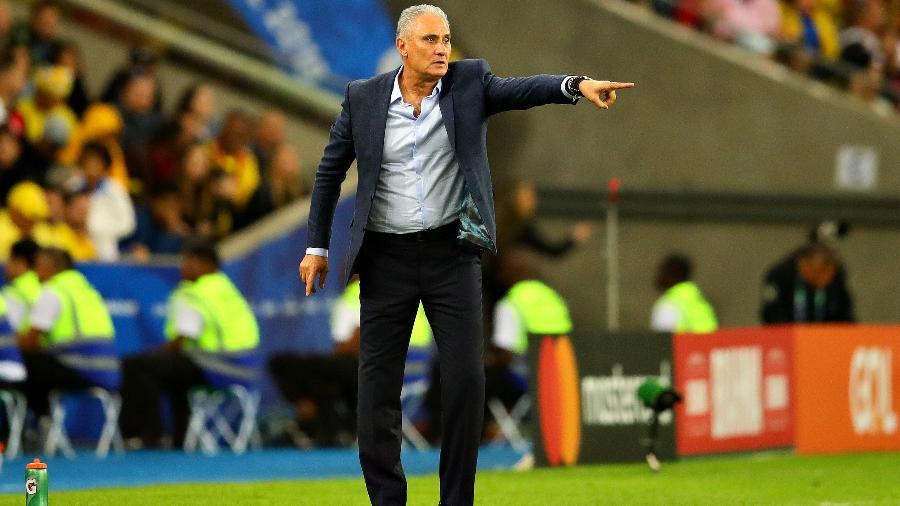 Tite comanda a seleção brasileira na final da Copa América-2019 contra o Peru - Chris Brunskill/Fantasista/Getty Images