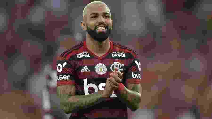 Gabigol comemora vitória do Flamengo sobre o Santos - Thiago Ribeiro/ AGIF