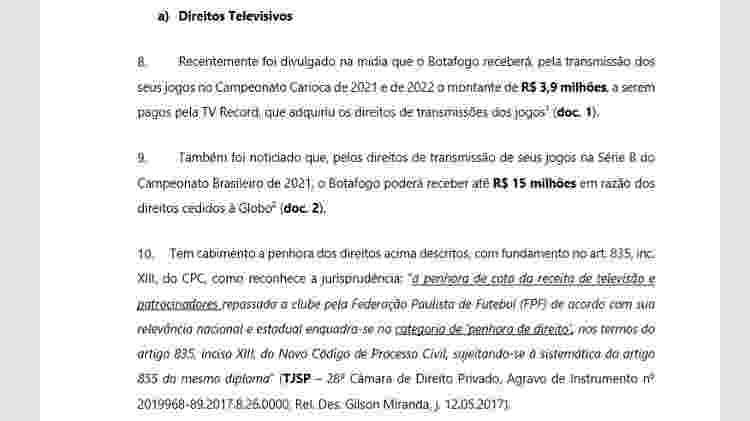 Em processo contra o Botafogo, Odebrecht pede penhora de mais de R$ 50 milhões - Reprodução - Reprodução