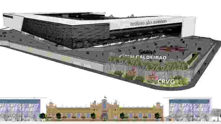 Esplanada no projeto de reforma de São Januário: Eduardo Paes gostou bastante deste setor de convivência - Divulgação / Vasco - Divulgação / Vasco