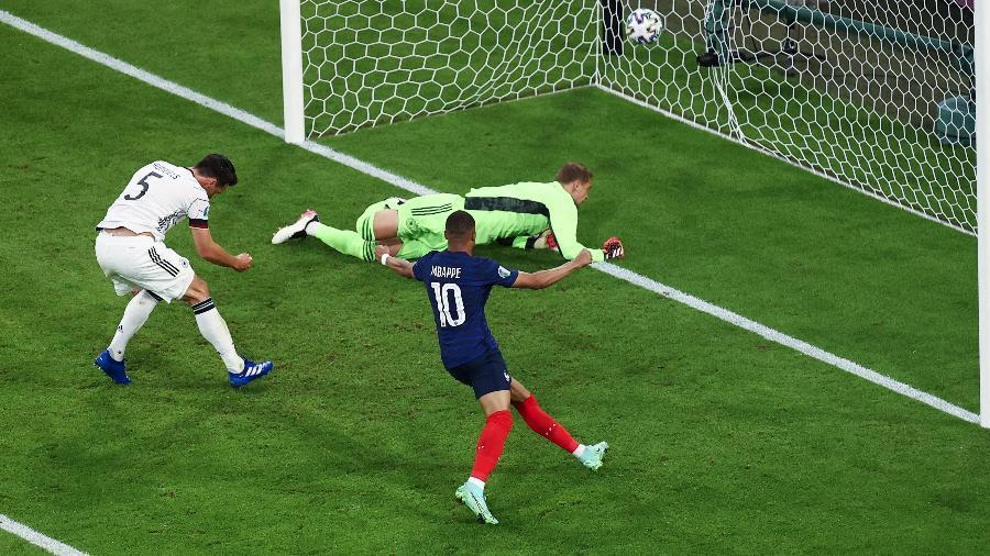 França comemora gol contra a Alemanha na estreia da Eurocopa - dpa/picture alliance via Getty I
