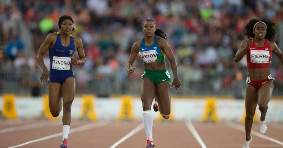 Rosangela Santos perdeu por apenas três centésimos a medalha de bronze na disputa dos 100m nos jogos Pan-Americanos de Toronto