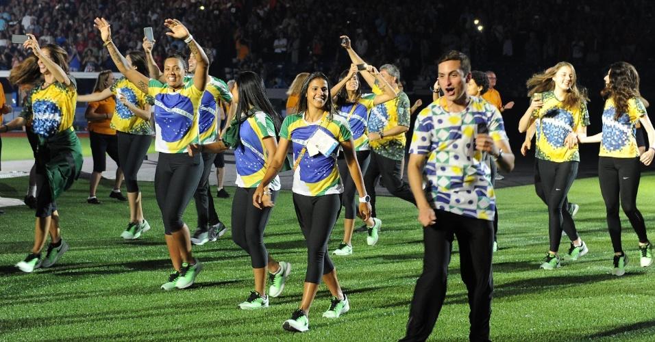 Delegação brasileira participa da cerimônia de encerramento dos Jogos Pan-Americanos de Toronto