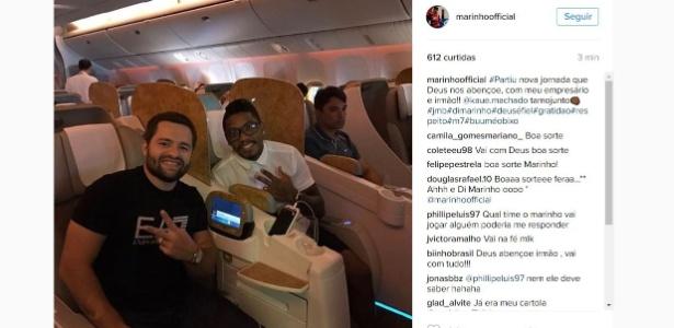 Marinho já está nos Emirados, onde seu novo clube faz pré-temporada