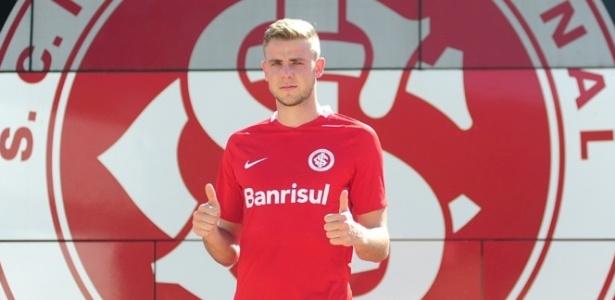Klaus, ex-Juventude, voltou aos treinamentos com o Internacional nesta quarta