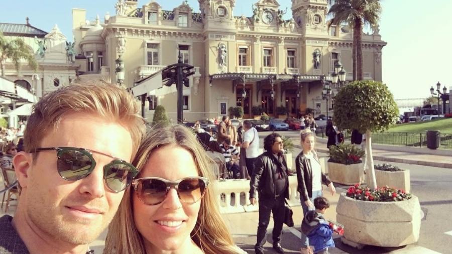 Nico Rosberg e a esposa Vivian no Cassino de Mônaco - Reprodução/Instagram