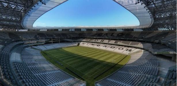 Ilustração de como será a parte interna do futuro estádio do Atlético-MG