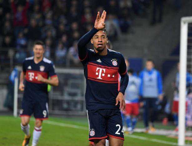 Corentin Tolisso comemora o gol do Bayern de Munique - REUTERS/Fabian Bimmer