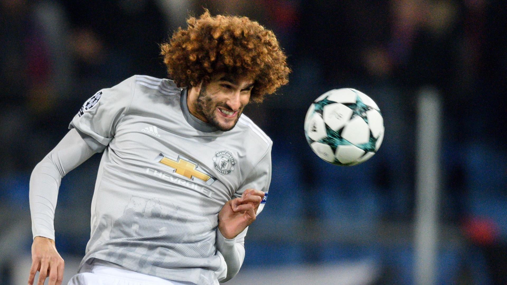Fellaini em ação pelo Manchester United contra o Basel