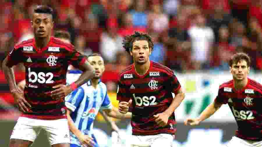 Willian Arão foi elogiado pelo técnico Jorge Jesus após a vitória do Flamengo sobre o Goiás - ALEX FARIAS/PHOTOPRESS/ESTADÃO CONTEÚDO