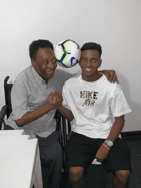 Pelé e Rodrygo se encontraram - Reprodução/Instagram