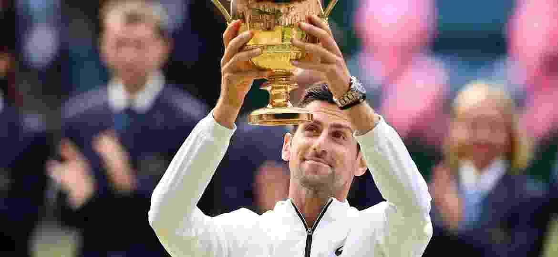 Djokovic é campeão de Wimbledon após derrotar Roger Federer - Daniel LEAL-OLIVAS / AFP