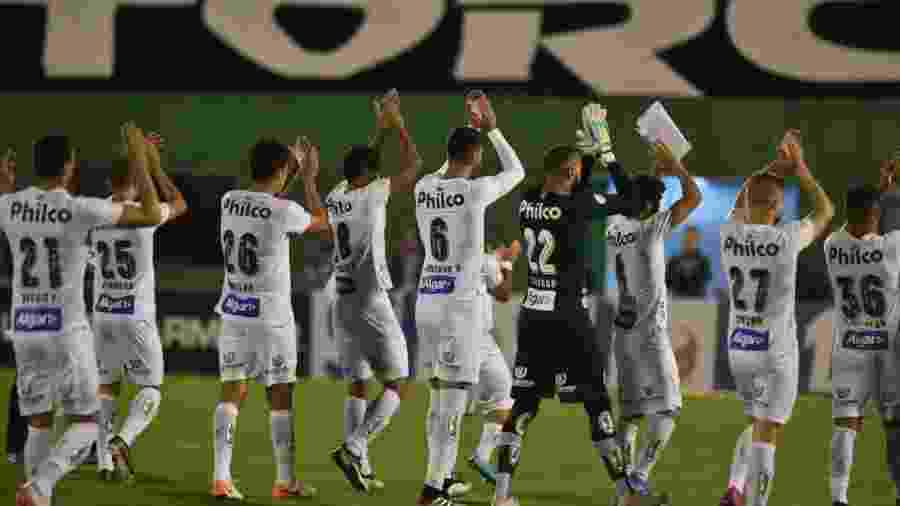 Jogadores do Santos aplaudem torcida após vitória sobre Chapecoense - Ivan Storti/Santos FC
